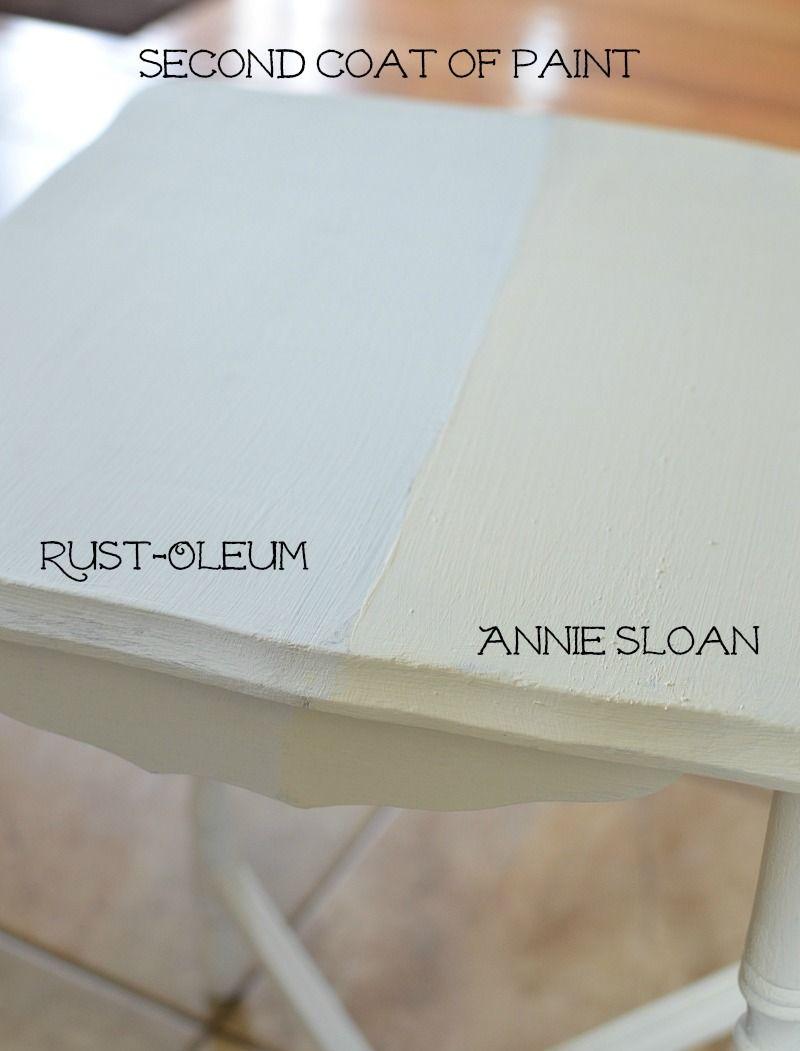Rustoleum Chalked Paint Vs Annie Sloan