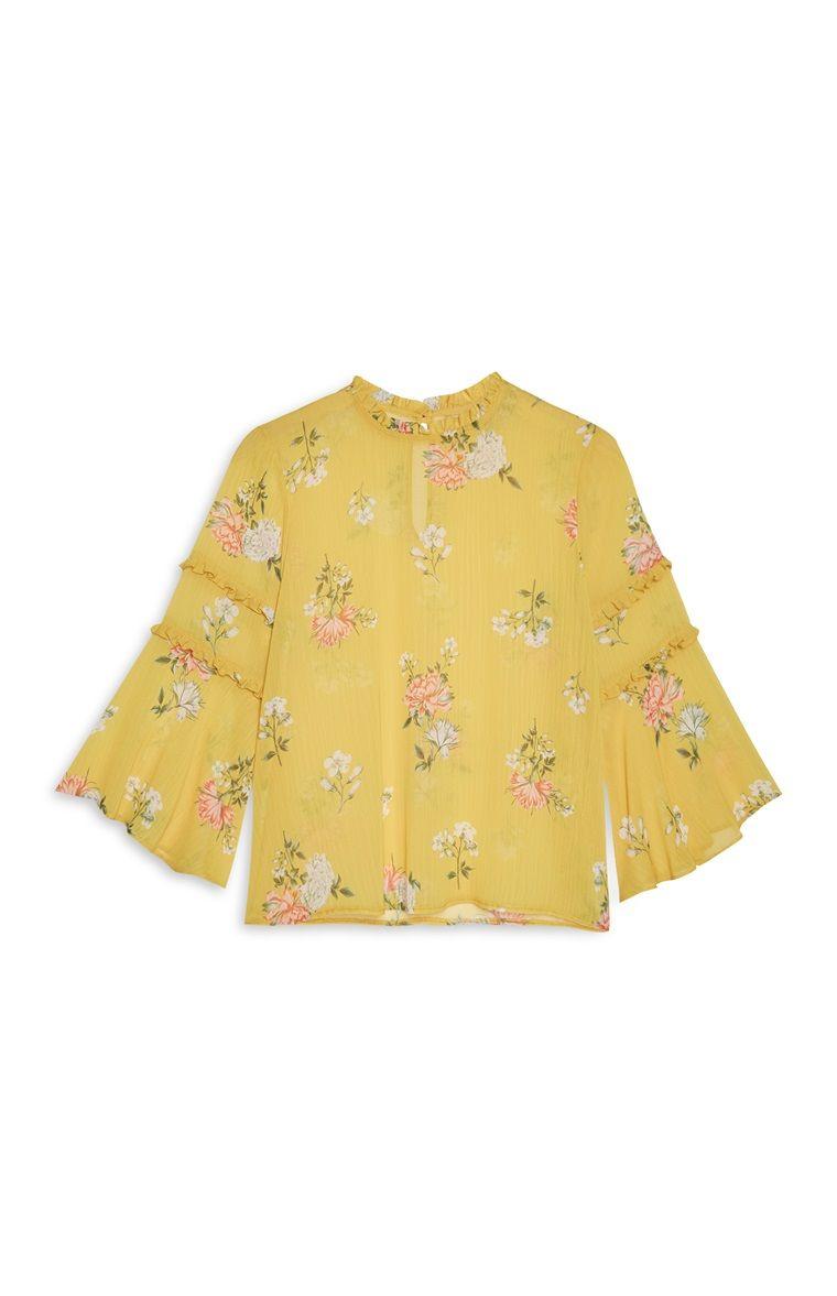 2e1765029c630a Primark Yellow Floral Blouse