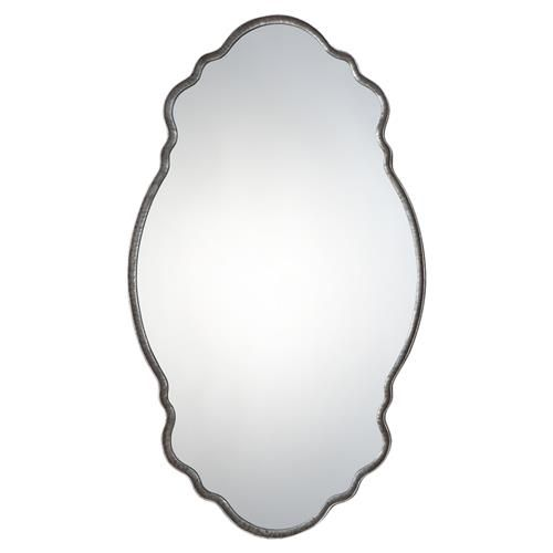 Amal Modern Hammered Iron Elegant Mirror | Kathy Kuo Home