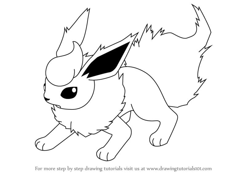Flareon Is A Quadruped Reddish Orange Fur Color Pokemon From Pokemon Cartoon Movie Drawings Pokemon Drawings Pokemon