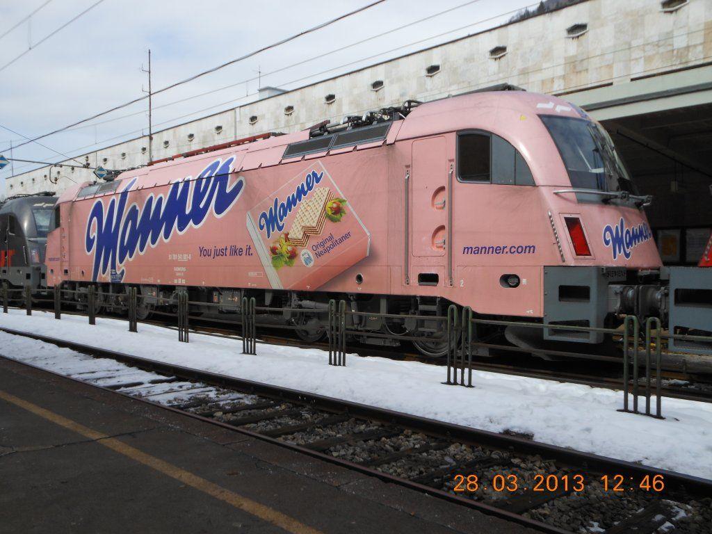 541  Slowenische Staatsbahnen Manner-Werbung