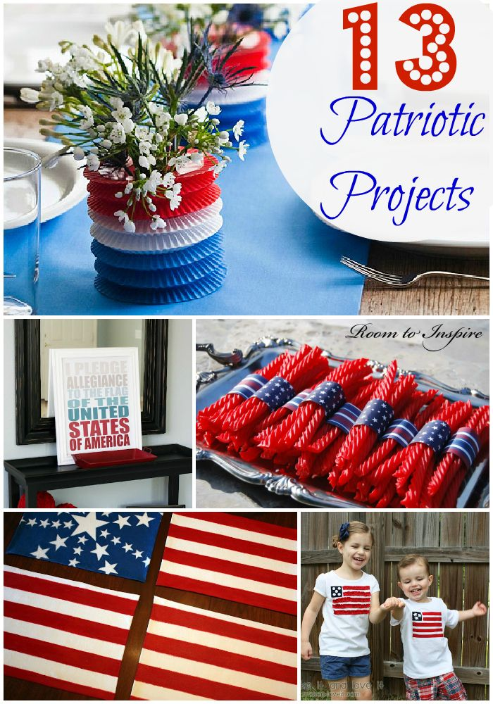13 Easy Diy Fourth Of July Decorating Ideas Part Two 4th Of July 4th Of July Decorations Fourth Of July