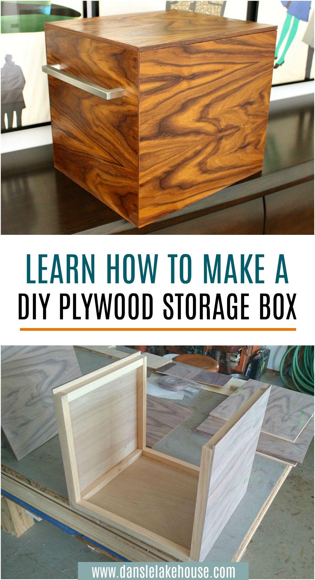 DIY Plywood Storage Bins with a MidCentury Modern Look