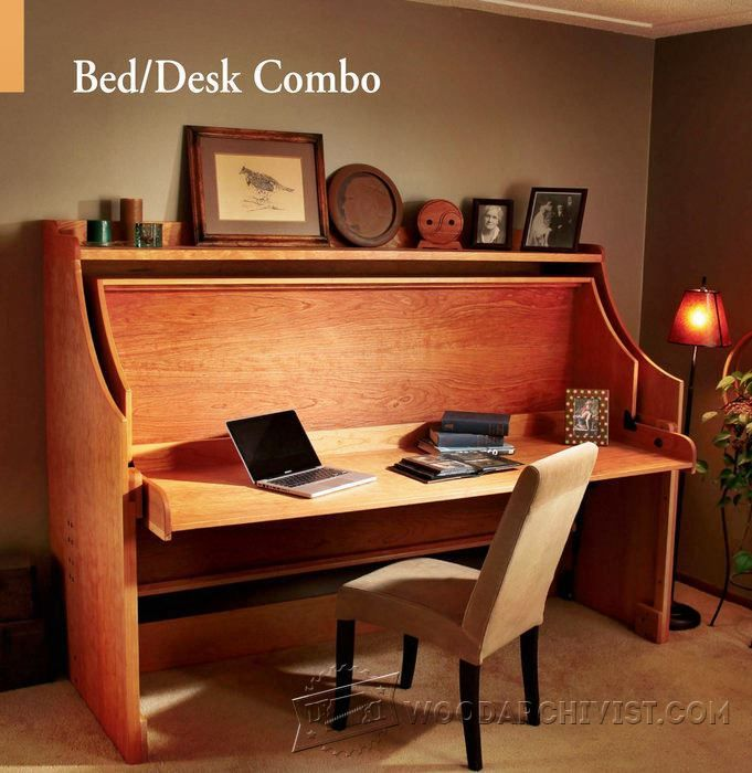 BedDesk Combo Furniture Plans And Projects Woodwork Magnificent Bedroom Desk Furniture Plans