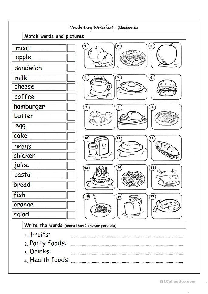 Food Vocabulary Atividades De Ingles Atividades Em Ingles Para