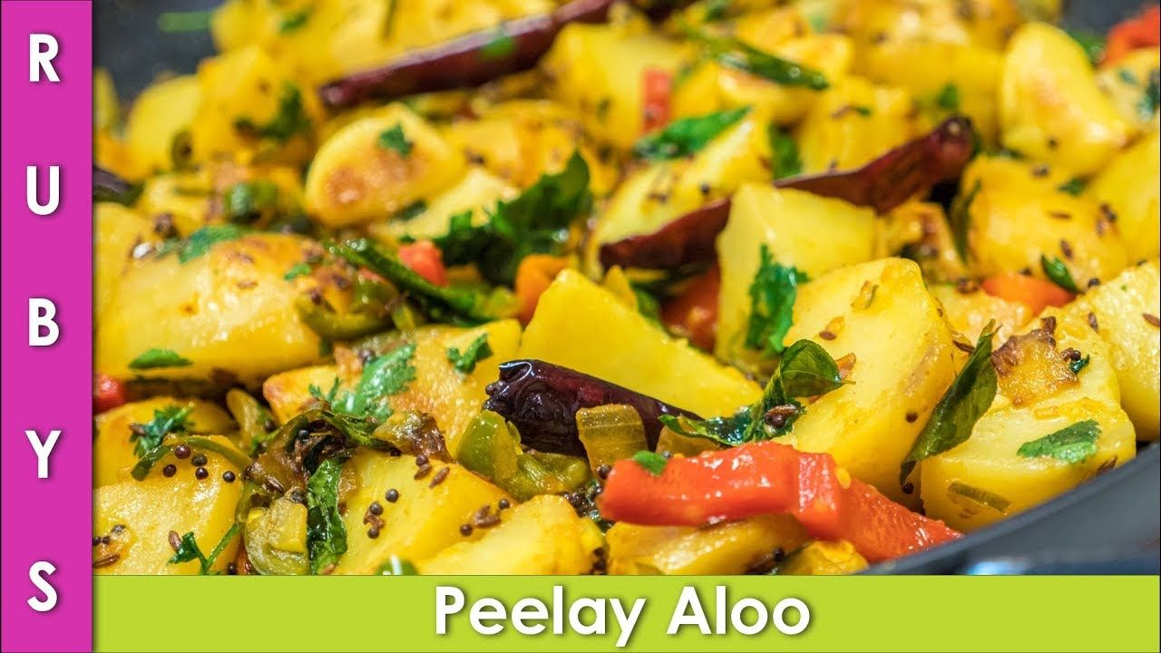Peelay Aloo Ki Sabzi Bhujia Ki Recipe In Urdu Hindi Rkk