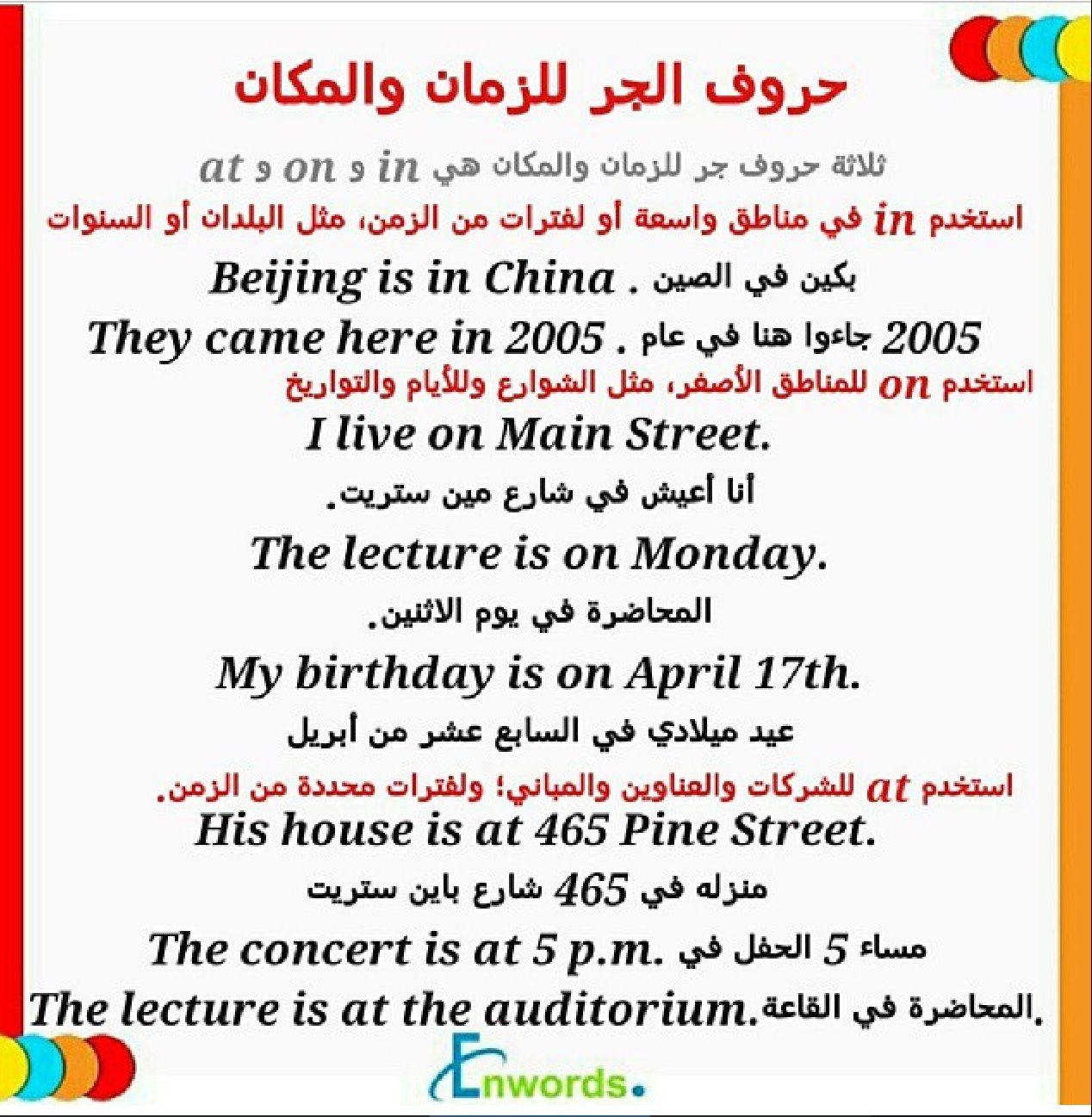 Pin Di Al Amri Su تعلم قواعد اللغة الانجليزية