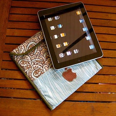 iPad slipcase with pocket tutorial