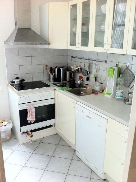 Kücheninspiration schöne küche mit hellen fronten und fliesenboden küchen inspiration