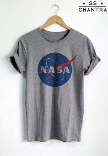 a18108b7e6494 Details about Nasa Shirt Nasa Logo T-Shirt Unisex Space Tees Gift ...