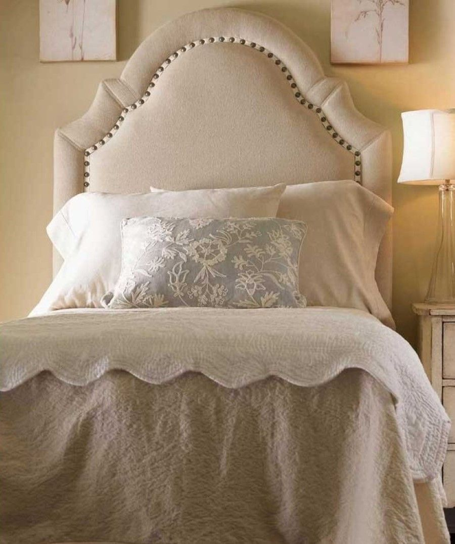 Neutral Bedroom Color Idea And Unique Upholstered Headboard Feat Pretty Pillowcase Excellent Bed Headboards Serve as & Neutral Bedroom Color Idea And Unique Upholstered Headboard Feat ...