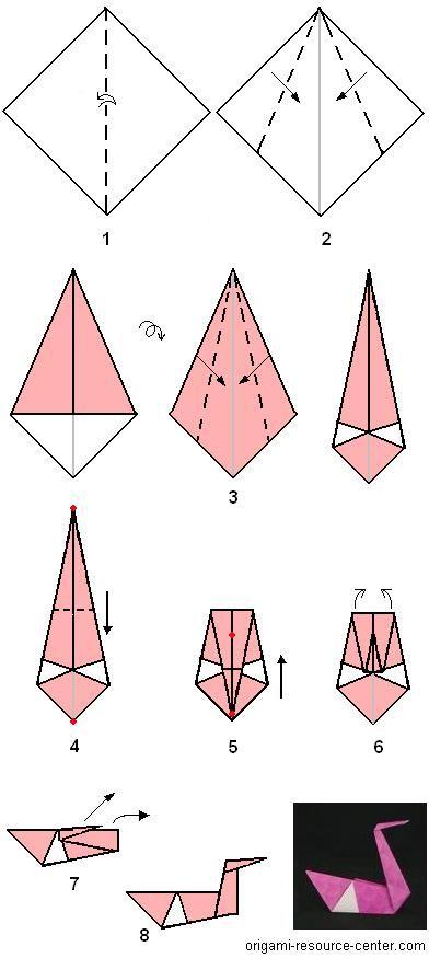 Origami Swan Diagram
