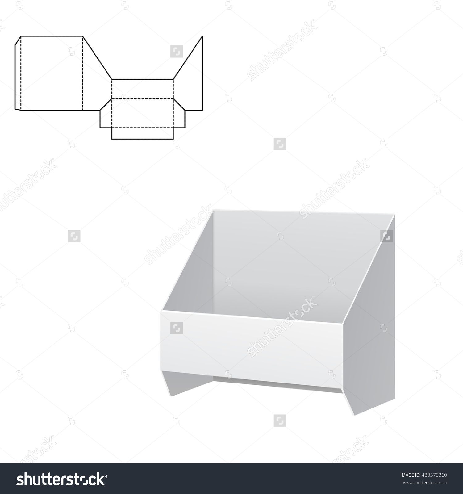 Vector illustration of diecut craft box for design website vector illustration of diecut craft box for design website background banner retail jeuxipadfo Gallery