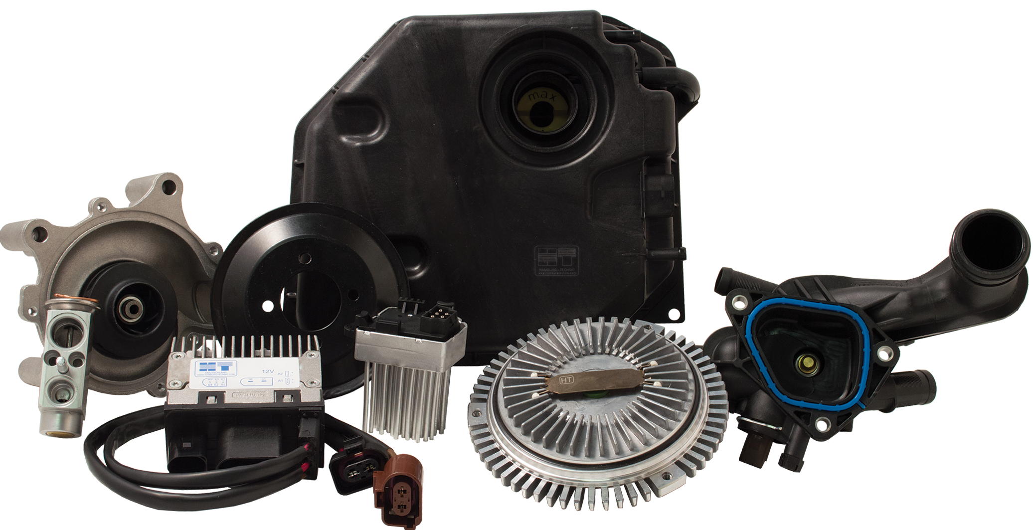 Hamburg Technic Heating And Cooling Parts Full Array Of Fan Clutches Fan Assemblies Thermostats And Thermostat Housing Hvac Control Water Pumps Control Unit