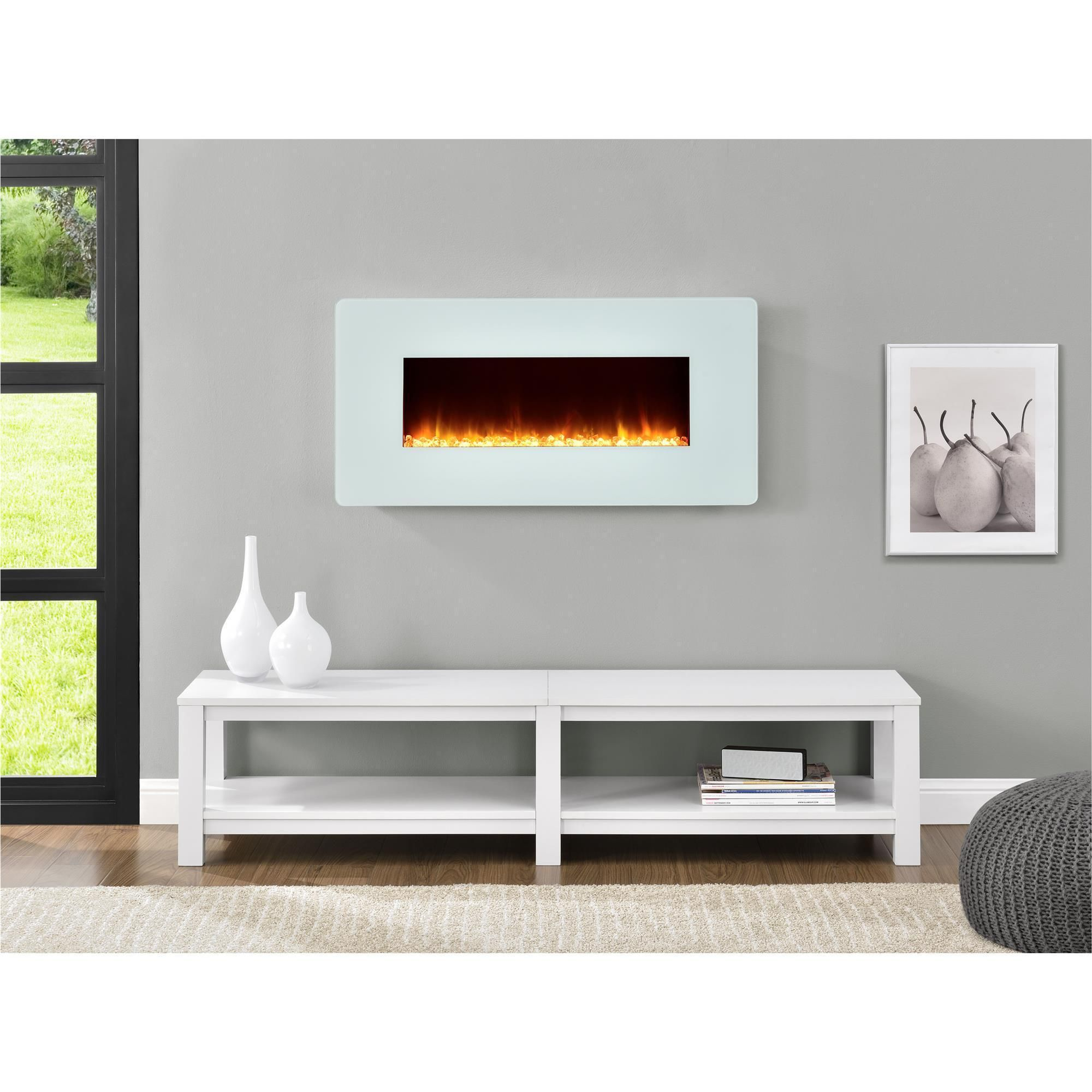 altra kenna 35 inch white wall mount fireplace wall mount fireplace
