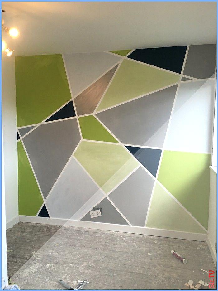 Wandgestaltung Mit Geometrischen Formen Und Bunten Farben In 2020 Wandgemalde Selbstgemacht Geometrische Wandmalerei Wandgestaltung