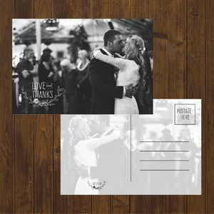 Glitter Wedding Thank You Cards