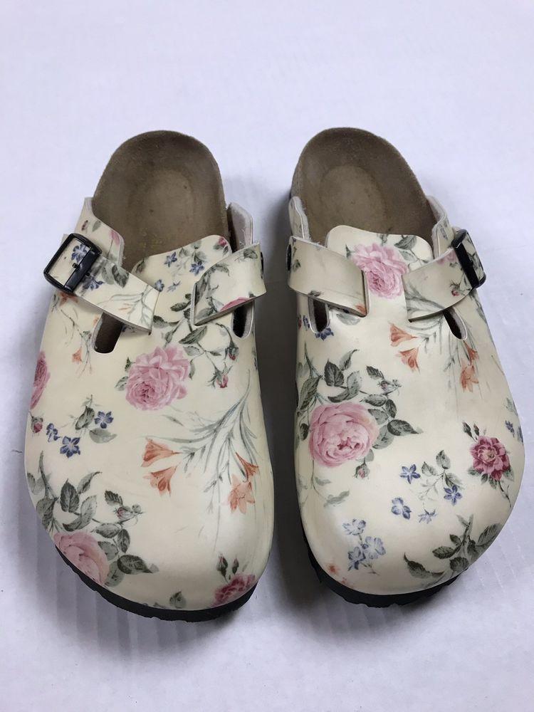 birkenstock Clogs Rosebuds Roses EUC papillio 40 US 9