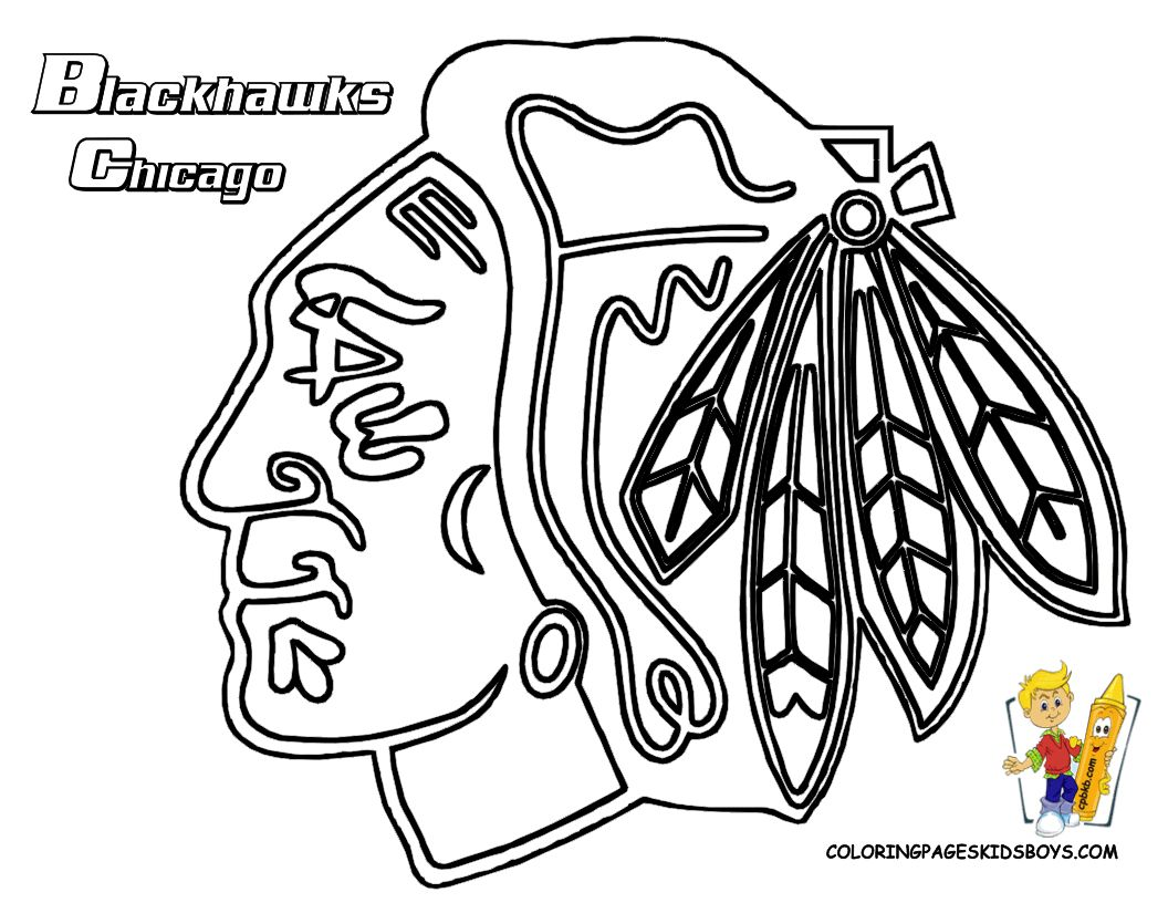 Chicago Blackhawks coloring pages | Chicago Blackhawks ...
