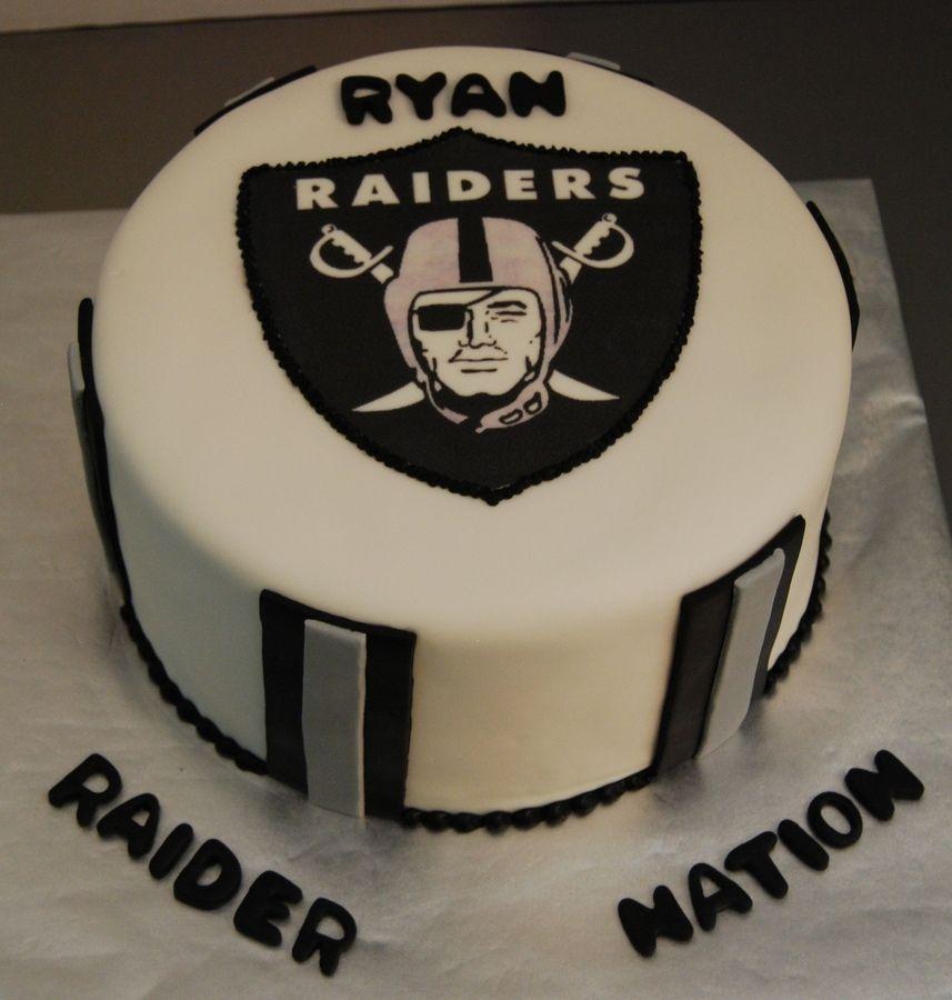 Oakland Raiders Football Nfl Groomsmen Cake Pinterest