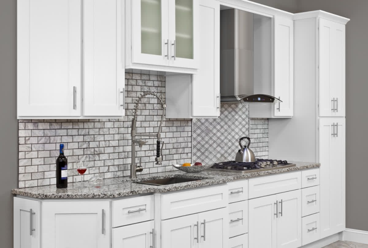 Small Kitchen No Problem White Cabinets Will Make Your Cozy Kitchen Look More Open And Spa Kitchen Cabinets White Kitchen Cabinets Steel Kitchen Cabinets