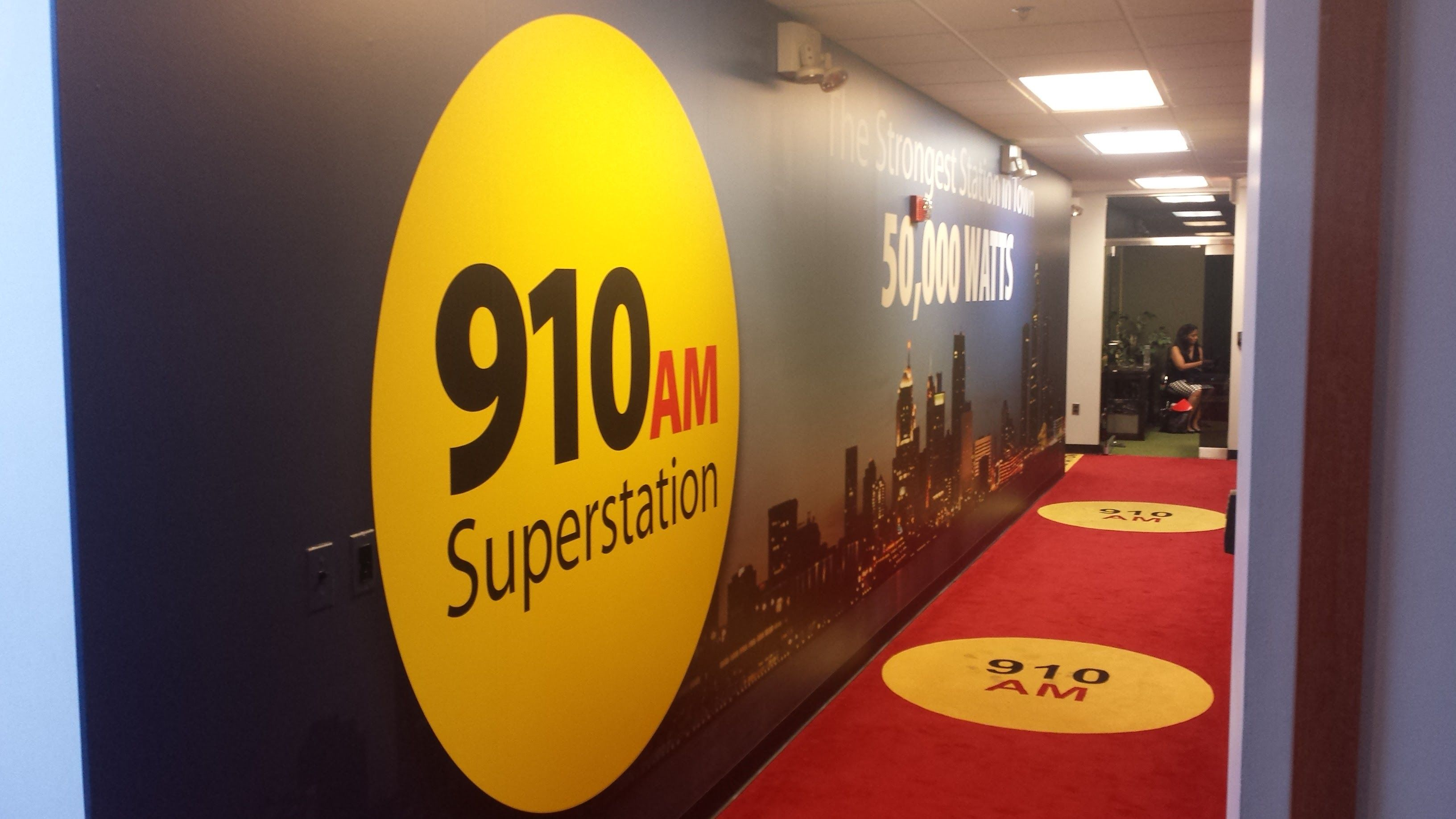 Full Wall Wrap on Both Sides of Hallway Wall Art @910Superstation ...