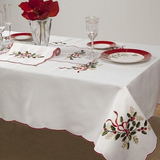 Holiday Cutwork Table Linens By Lenox Cutwork Christmas