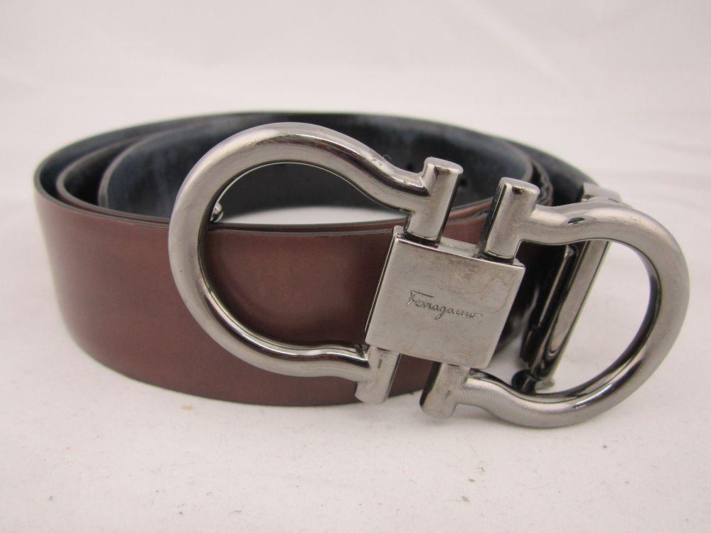 e1ef5a268a0 ... low price mens salvatore ferragamo belt double gancini reversible black  brown size 34 36 salvatoreferragamo f000c