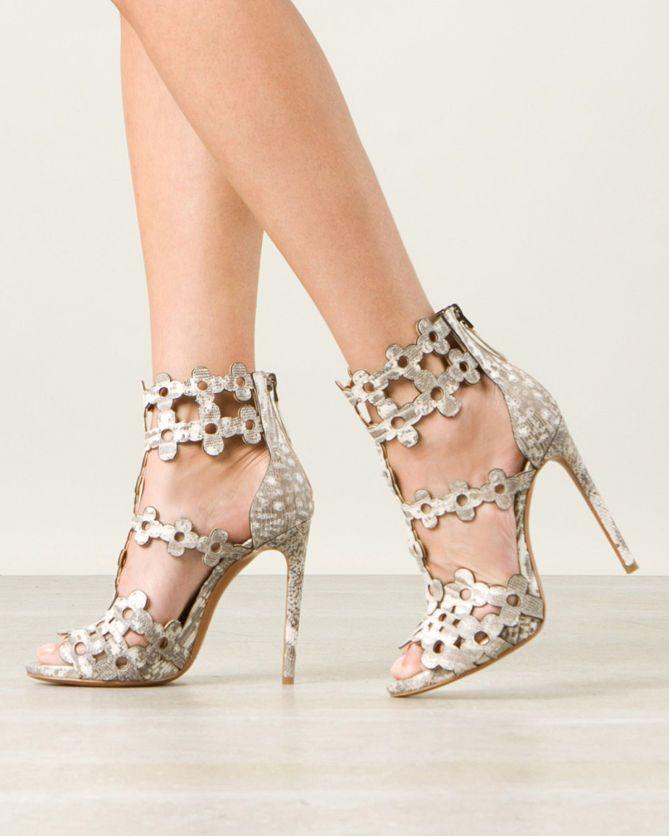 AZZEDINE ALAÏA FLORAL CUTOUT DETAILS PYTHON SANDALS | Buy ➜ http://shoespost.com/azzedine-alaia-floral-cutout-details-python-sandals/