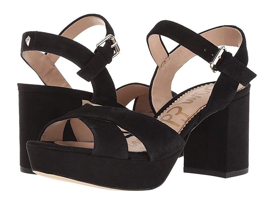 5fb86b67ab295 Sam Edelman Jolene Women s Shoes Black Kid Suede Leather