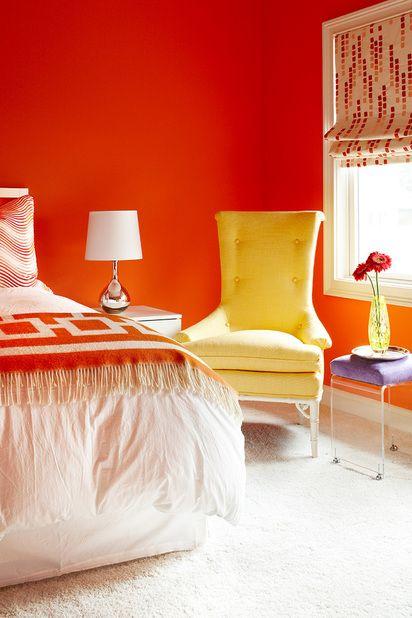 Colore Arancione Pareti Camera Da Letto.Colori Vivaci Per La Stanza Da Letto Neo Colori Camera Da