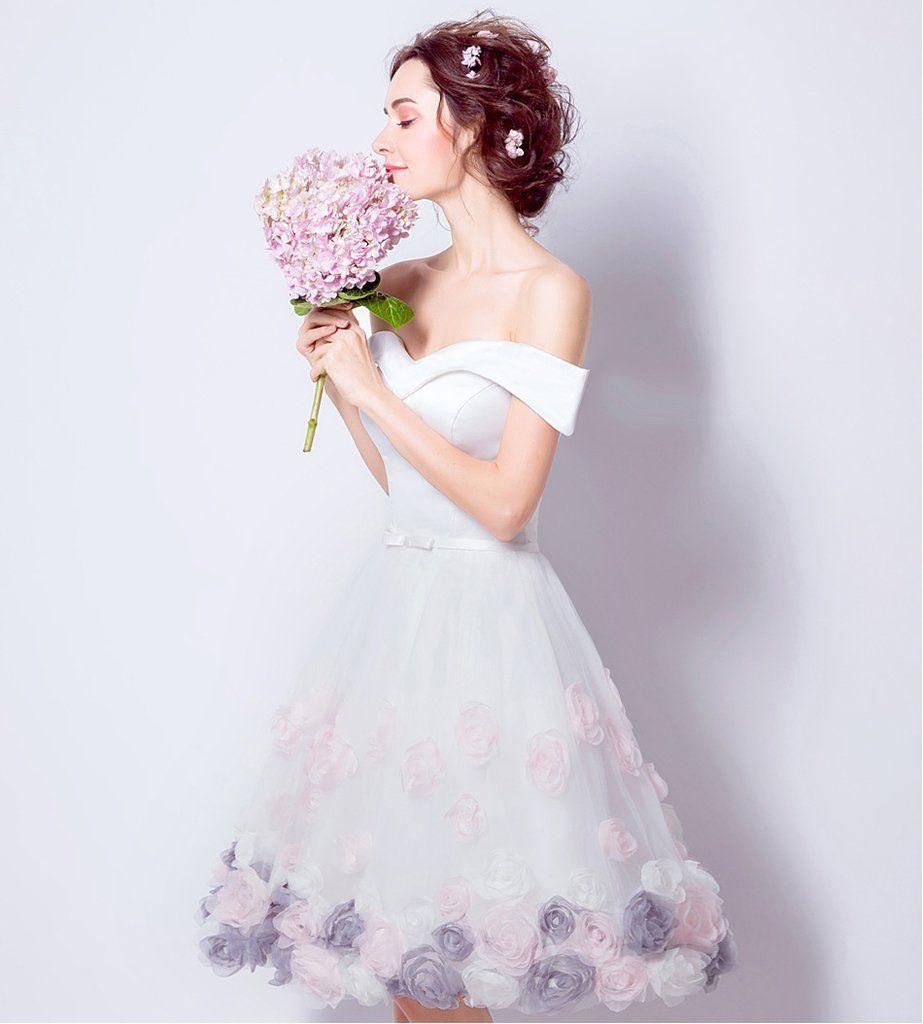 aline offtheshoulder short prom drsess homecoming dresses