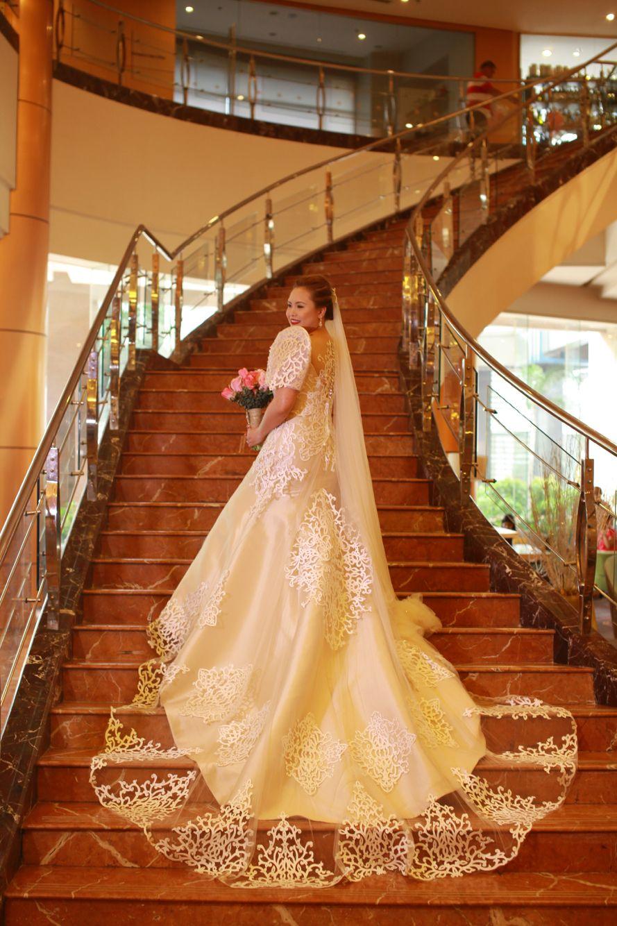 Modern Filipiniana wedding gown by Jo Rubio | Filipiniana Wedding ...