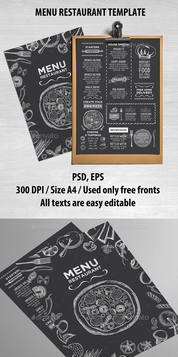 Food Restaurant Menu Template PSD design Download