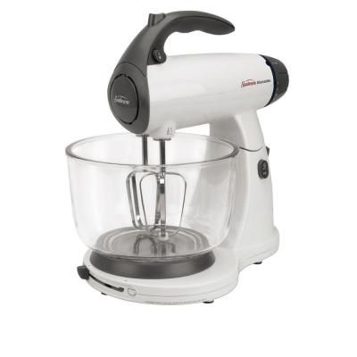 Sunbeam Mixmaster 4 Qt 12 Speed White Stand Mixer With Glass Bowl 002371 000 000 Best Stand Mixer Kitchen Stand Mixers Mixer