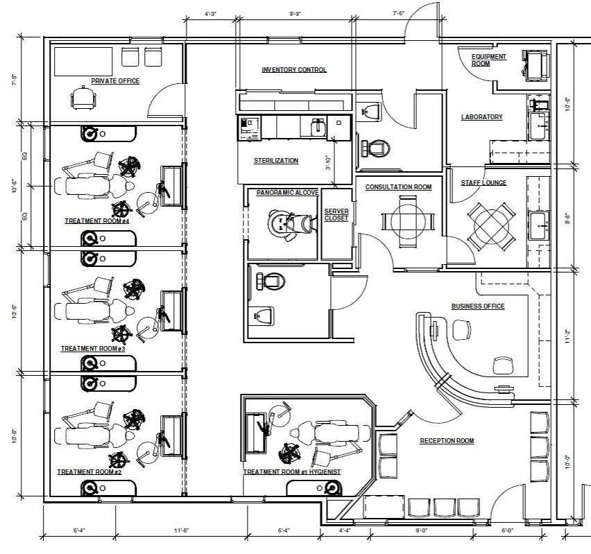 Floor Plan in Progress | Dental Office Design in 2018 ...