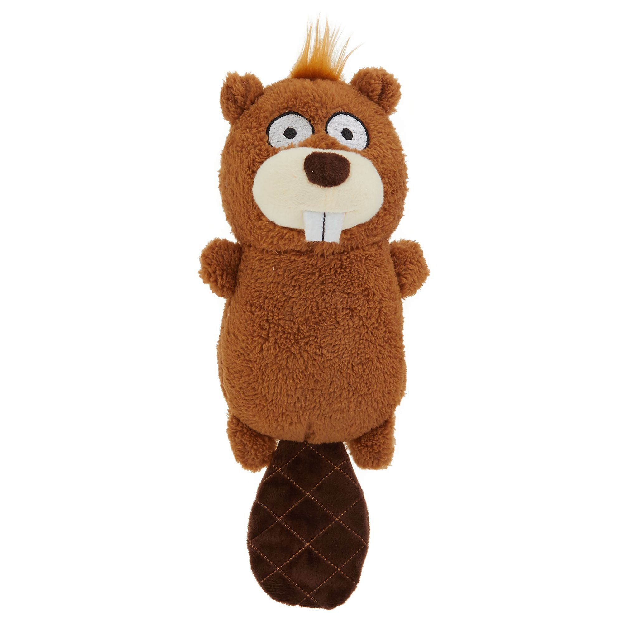 Top Paw Beaver Dog Toy Plush Squeaker Animal Plush Toys Dog Toys