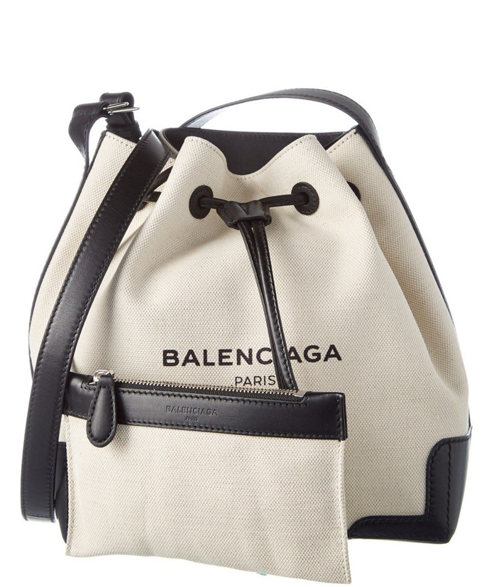 856f3926bbca BALENCIAGA Balenciaga Navy Small Canvas  Amp  Leather Bucket Bag .   balenciaga  bags  leather  canvas  bucket