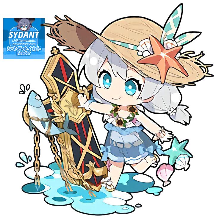 Render Hi3 Chibi Cute Summer 7 Cute Anime Chibi Chibi Cute Chibi