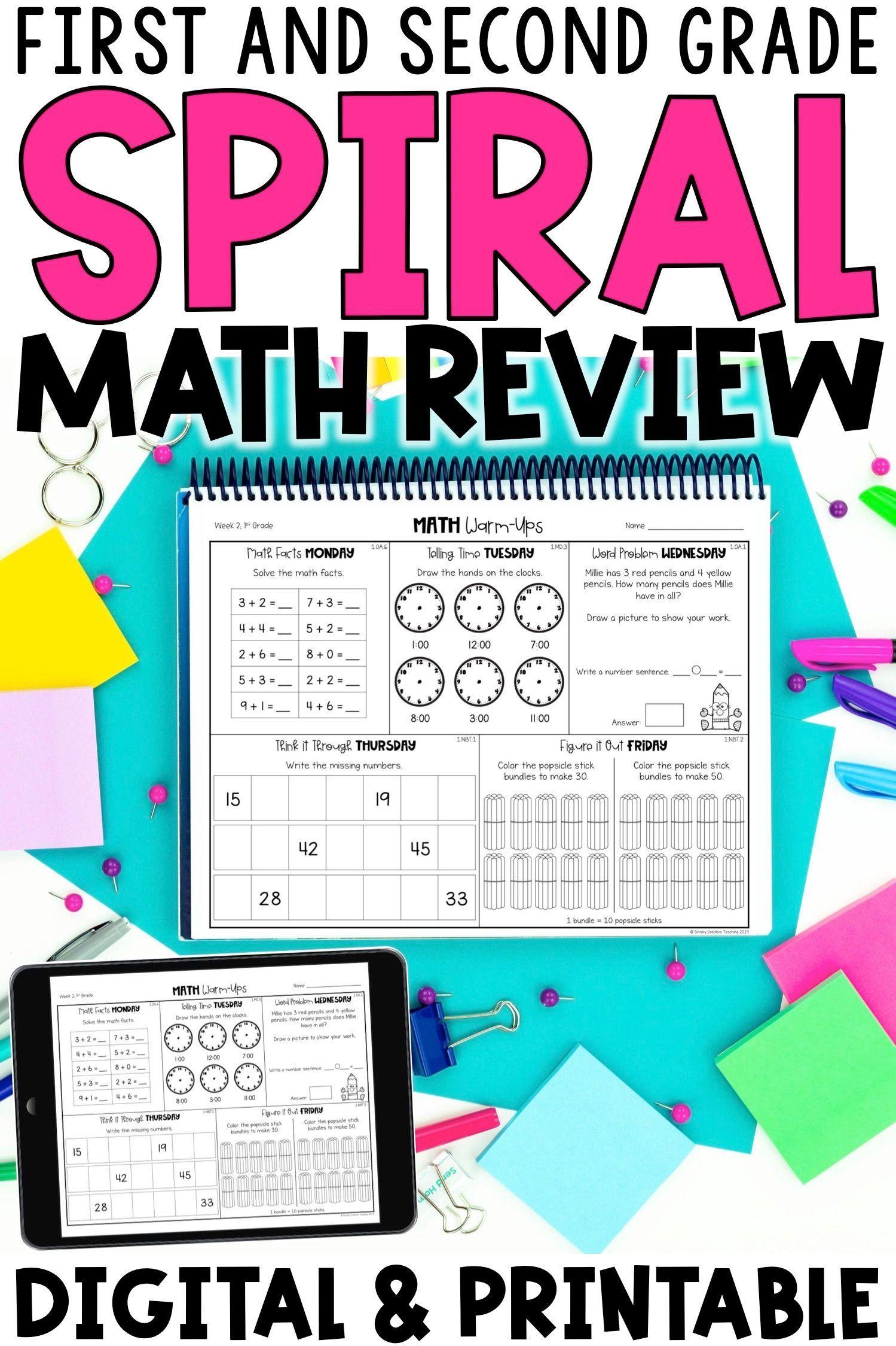 1st Grade Math Spiral Review Slides Amp Seesaw