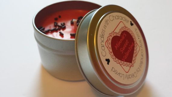 MINNIE'S SWEET VALENTINE  Candles with Character by MyDearlyLoved