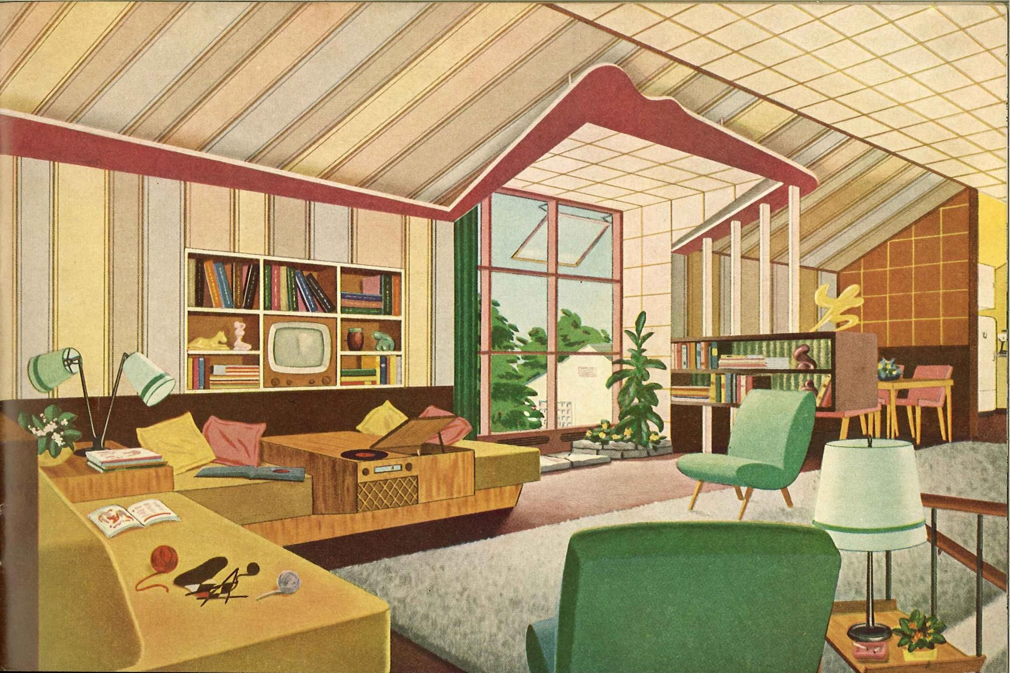 26 best illustrated interiors images on Pinterest | Drawings, Modern  interiors and Vintage interiors