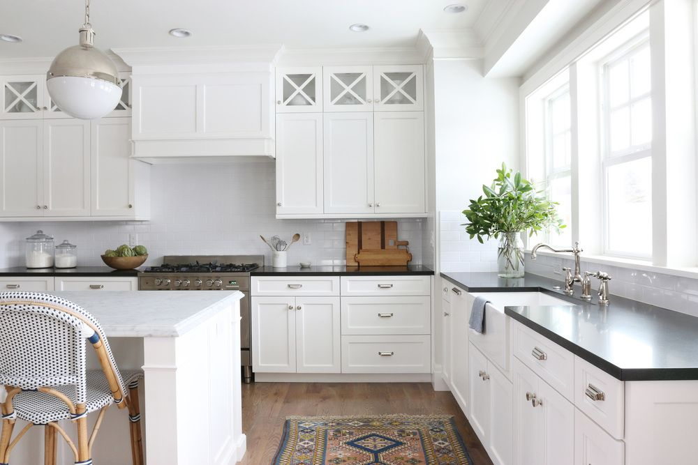 combinations for a classic kitchen - Stone Slab Kitchen Decor