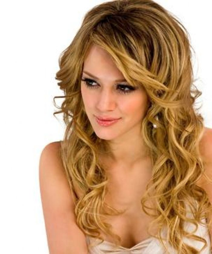 Long Curly Hairstyles With Trendy Bangs 2016