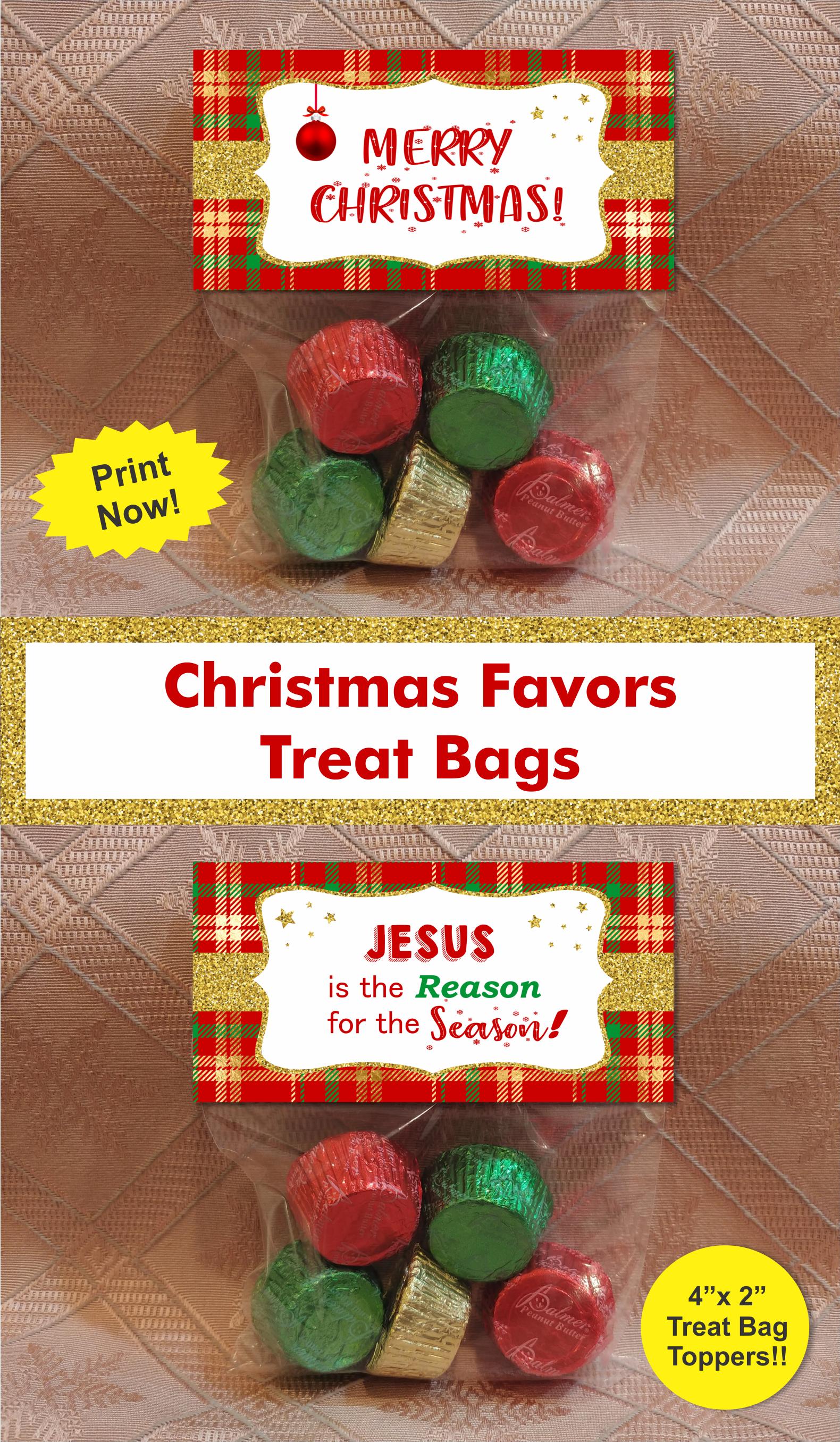 Christmas Treat Bag Toppers/ Christmas treat bags/ School