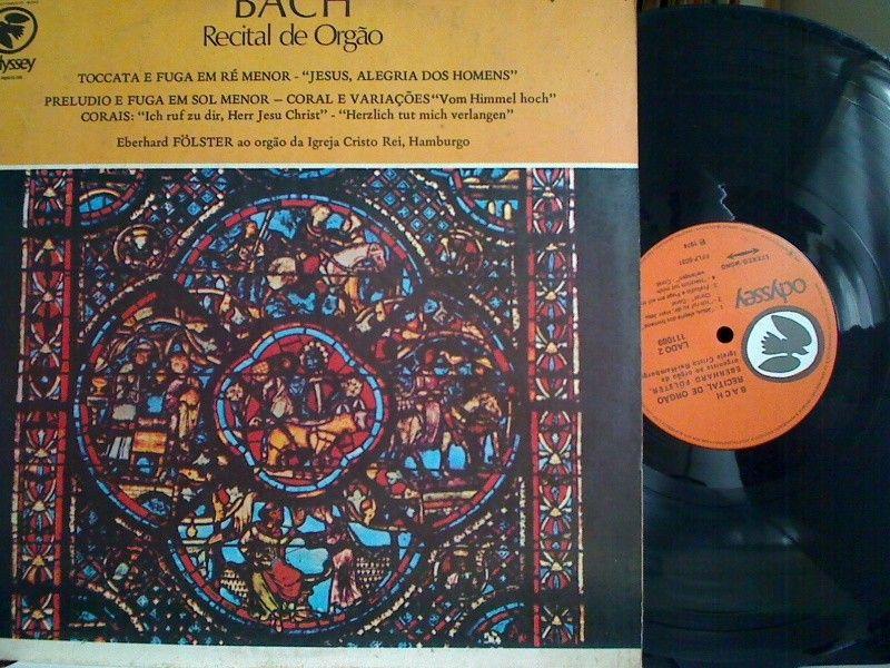 Lp Vinil - Bach - Recital de Orgão  - http://www.infinityclassic.com.br/produtos/lp-musica-classica/lp-vinil-bach-recital-de-orgao/