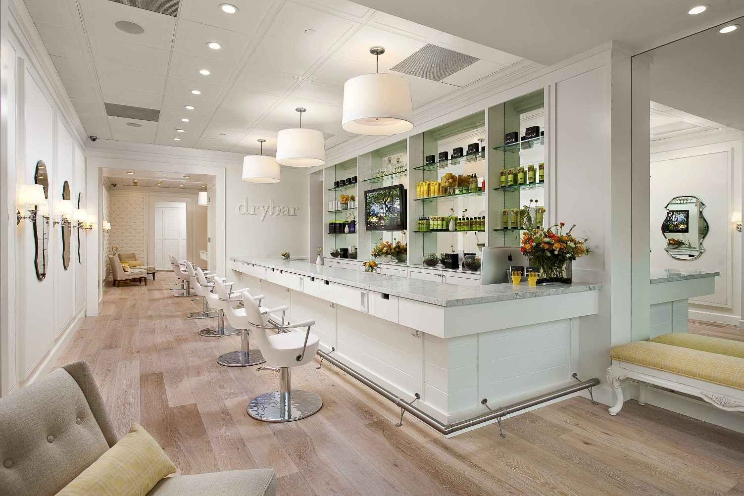 Salon Interior Design · Drybar Interior Shot ~ Crisp Decor