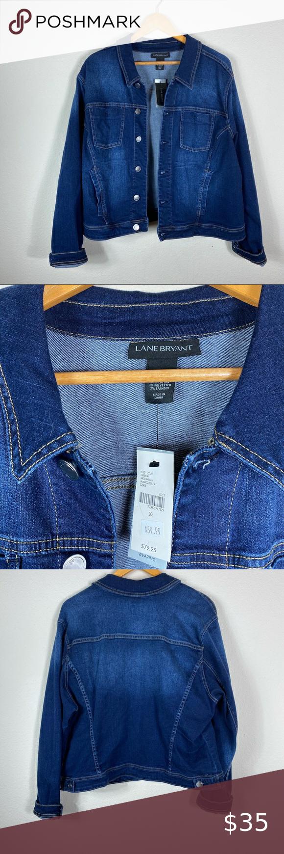 Lane Bryant Jean Jacket Good Thickness Lane Bryant Jackets Coats Jean Jackets Denim Jacket Women Distressed Black Jeans Denim Women [ 1740 x 580 Pixel ]
