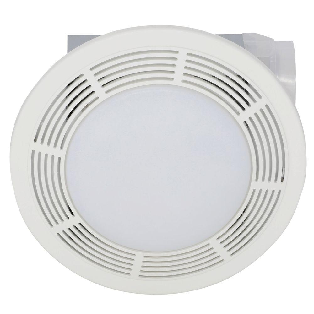 Broan Nutone 100 Cfm Ceiling Bathroom Exhaust Fan With Light 751 The Home Depot Ceiling Exhaust Fan Bathroom Ceiling Light Fan Light