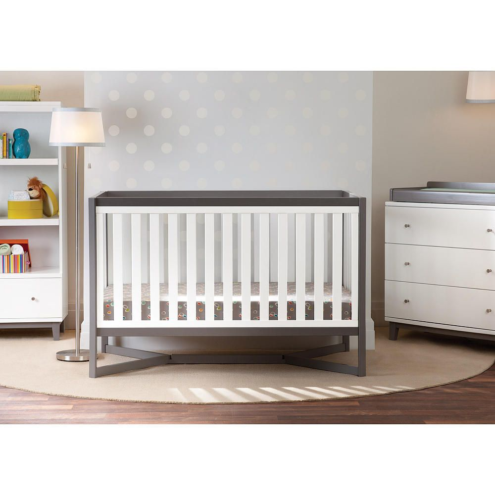 Baby cribs baby r us - Same Tribeca Grey And White Convertible Crib By Delta That Is Carried At Babies R Us